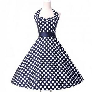 Cotton-Short-Dots-Rockabilly-Retro-Vintage-font-b-Dress-b-font-GK-Cheap-Women-Summer-font