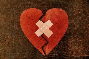 Broken Heart with Band Aid