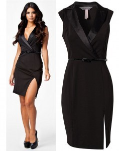 2014-New-Fashion-Women-Elegant-European-Style-Classic-Black-Deep-V-Tailored-Collar-OL-Work-Office
