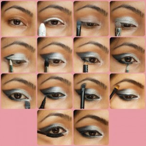Black-Gray-Smokey-Eye-Makeup-Tutorial