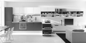 superb-modern-kitchen-designs-insight-kitchen-island-2014-open-dining-room-with-gray-and-white-themed-cabinets-also-shelving-system-furniture