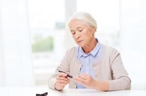 medicine, age, diabetes, health care and people concept - senior