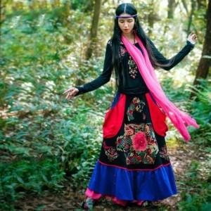 bohochic-original-vintage-bohemian-nepal-turkey-tibetan-ethnic-embroidery-cotton-linen-women-long-swing-skirt-ahz0080d