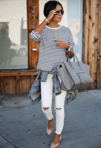 Beyaz jean pantolonlar nasıl kombinlenebilir