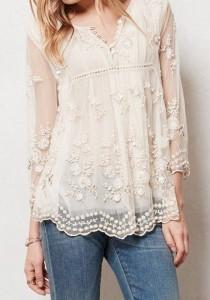 Dantelli Beyaz Gömlek Kombinasyonları 7