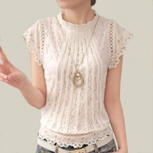 Dantelli Beyaz Gömlek Kombinasyonları 8