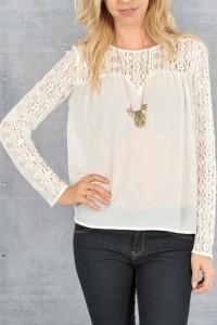 Dantelli Beyaz Gömlek Kombinasyonları 10