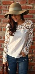 Dantelli Beyaz Gömlek Kombinasyonları 11