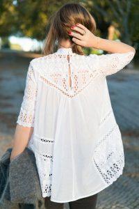 Dantelli Beyaz Gömlek Kombinasyonları 12