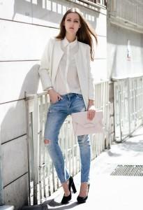 Dantelli Beyaz Gömlek Kombinasyonları 21